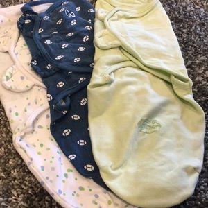 Summer Pajamas - Swaddle Me Velcro Swaddles - 3 pack